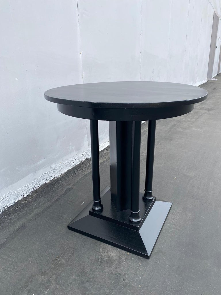 French Art Deco Ebonized Side Table For Sale 5