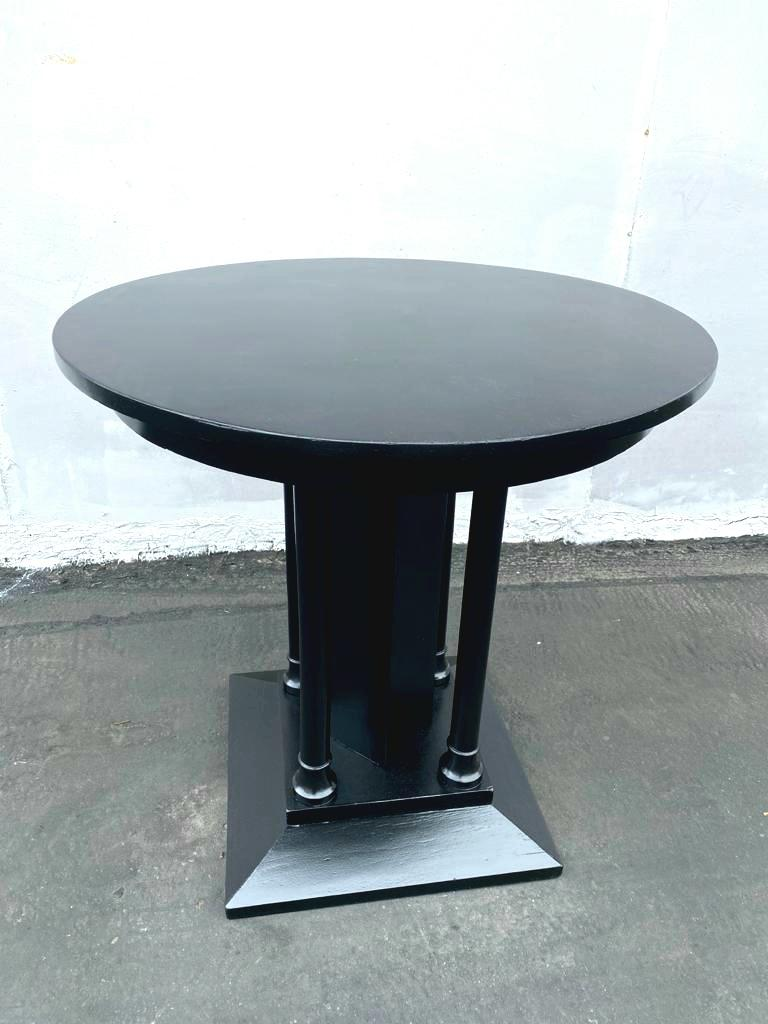 French Art Deco Ebonized Side Table In Good Condition For Sale In Los Angeles, CA