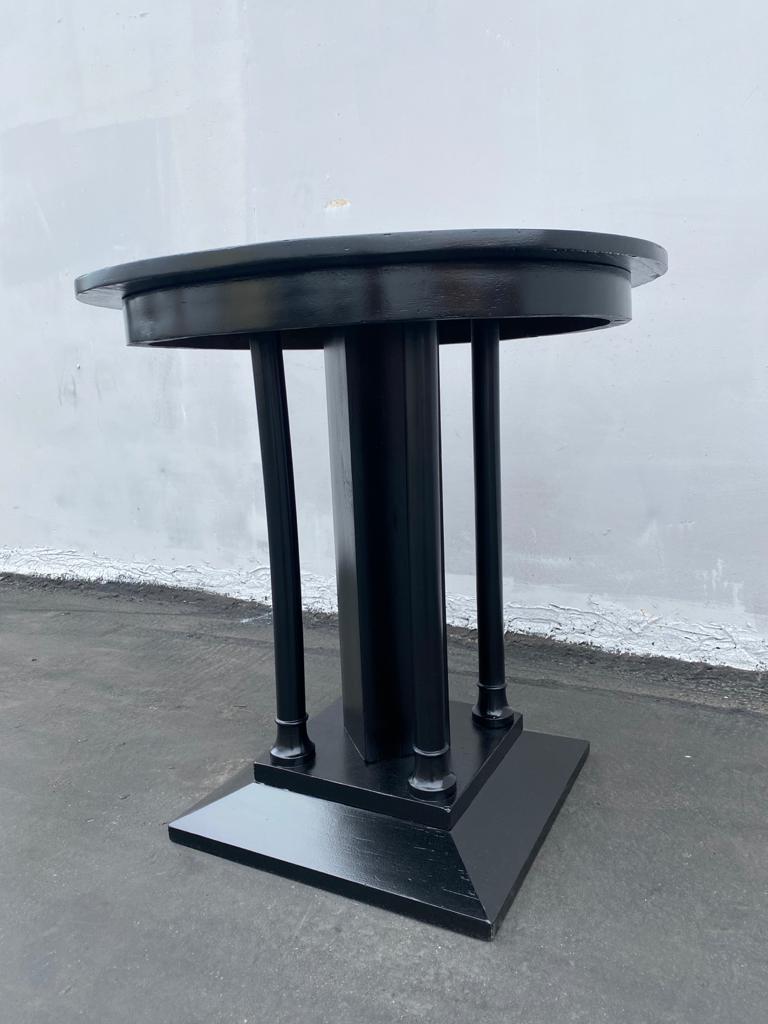 Walnut French Art Deco Ebonized Side Table For Sale