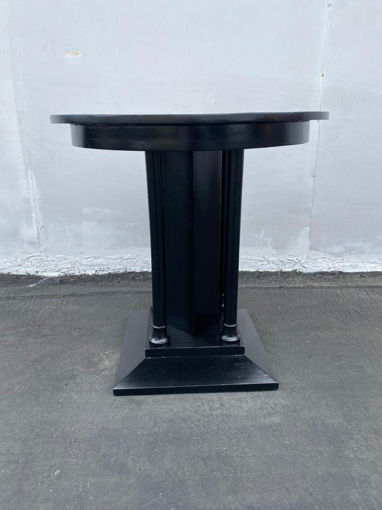 French Art Deco Ebonized Side Table For Sale 4