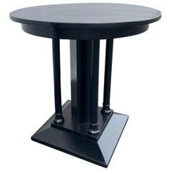 French Art Deco Ebonized Side Table