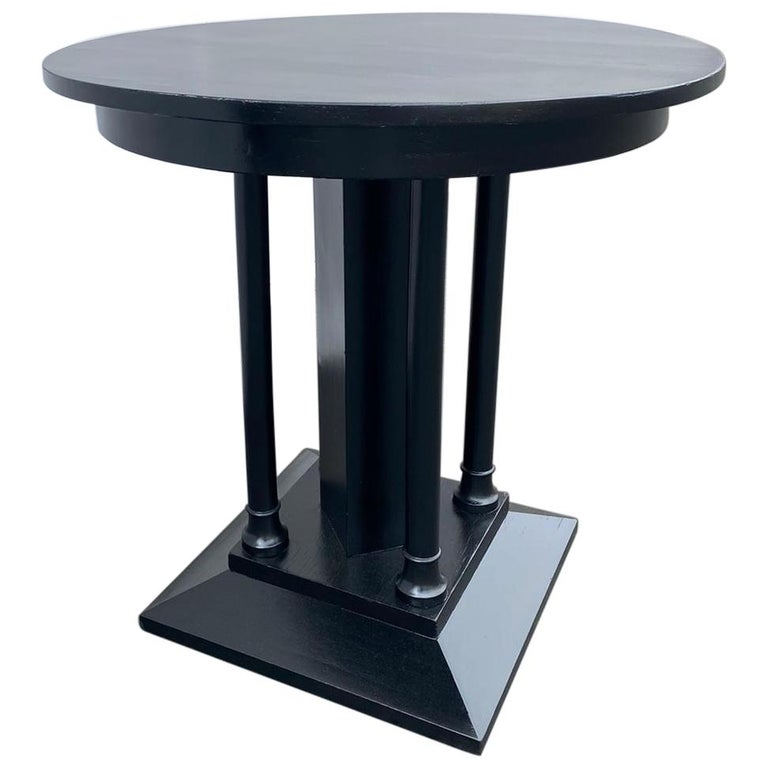 French Art Deco Ebonized Side Table For Sale