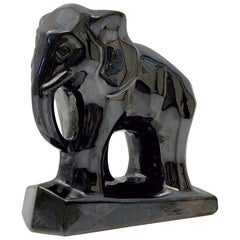 French Art Deco Elephant Figurine in the Cubist Style