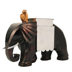 French Art Deco Elephant-Shaped Humidor Vessel