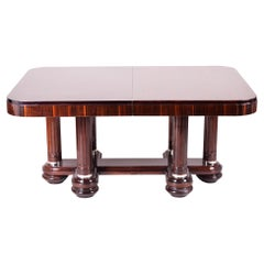 French Art Deco Extendable Table, Made in the 1920s Out of Makasar