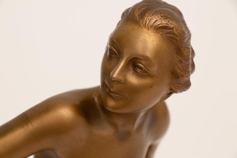 20th Century French Art Deco Figure Lamp by Josef Lorenzl For Sale