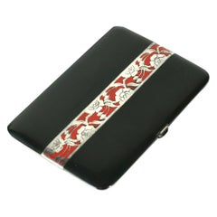 French Art Deco Floral Motif Lacquer Case