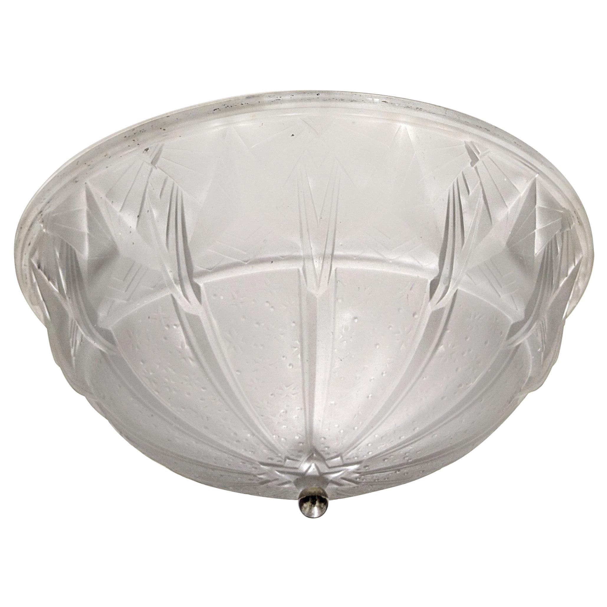 French Art Deco Flush Mount by Muller Freres