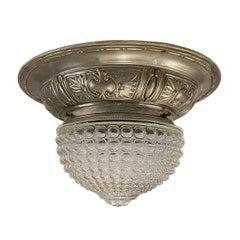 French Art Deco Flushmounted Light Fixture