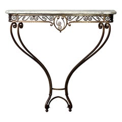 French Art Deco for Forge Wall-Mounted Console