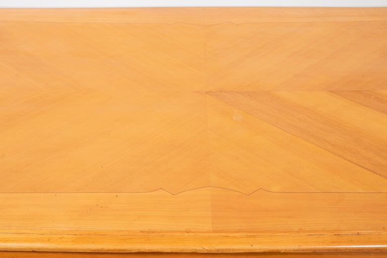 French Art Deco Fruitwood Draw-Leaf Dining Table 2