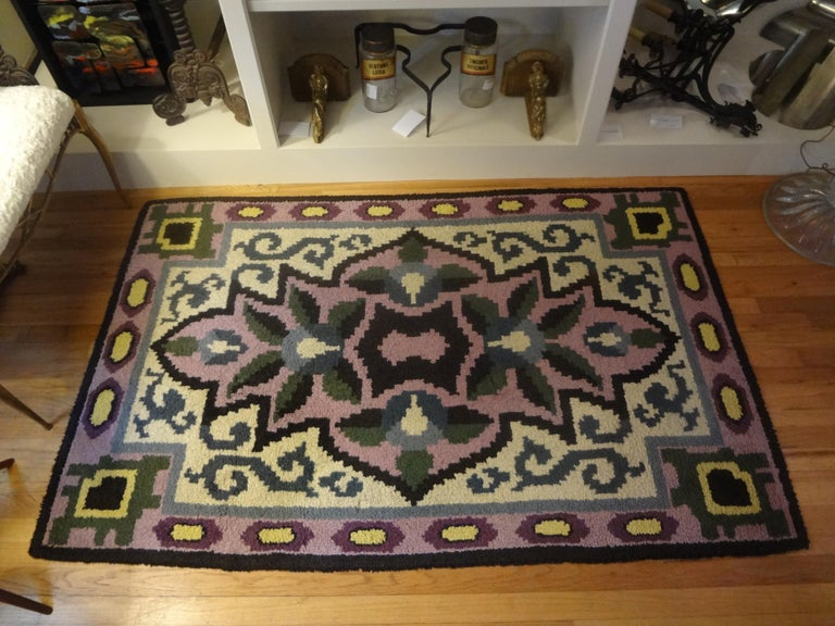French Art Deco Rug in the Style of Jules Leleu For Sale 2
