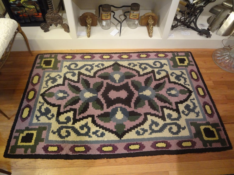 French Art Deco Rug in the Style of Jules Leleu For Sale 6