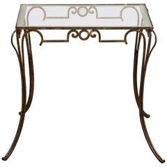 French Art Deco Gilt Iron Table