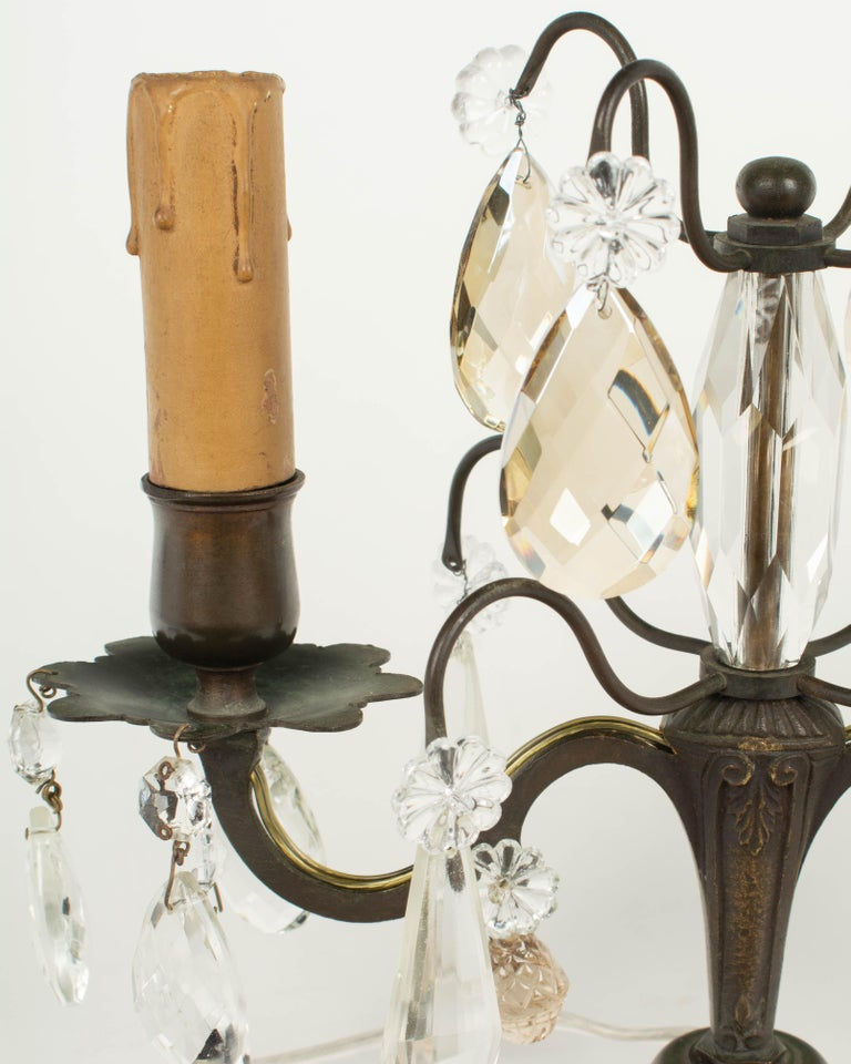 French Art Deco Girandole Lamps, a Pair For Sale 4