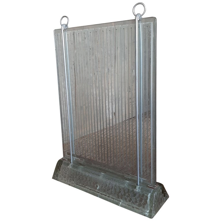 French Art Deco Glass Radiator by Rene Coulon for Saint Gobain For Sale