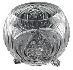 French Art Deco Handcut Crystal Bowl by Baccarat