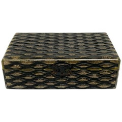 French Art Deco Herringbone Bakelite Box