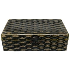 French Art Deco Herringbone Celluloid Box