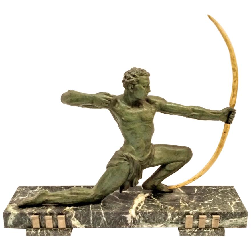 French Art Deco Hunter Sculpture / Statue
