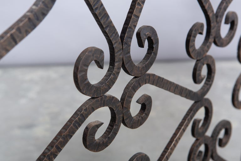 French Art Deco Iron Fireplace Screen For Sale 3