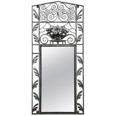 French Art Déco Iron Mirror, circa 1930