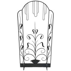 French Art Deco Iron Screen in the Manner of Edgar Brandt