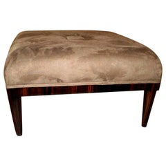 French Art Deco Jules Leleu Inspired Square Ottoman