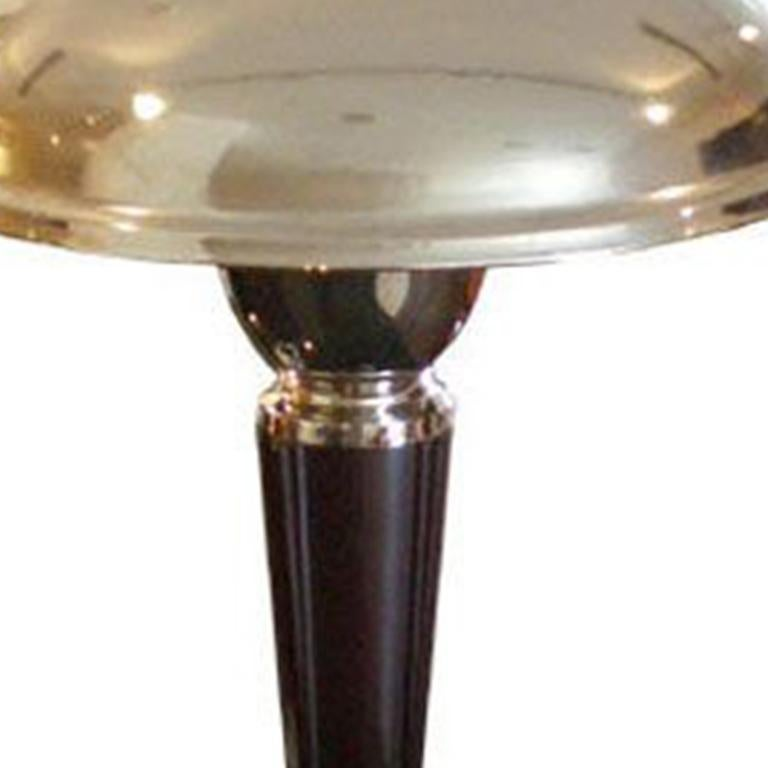 French Art Deco Lamp - bakelite and nickel plated lamp.