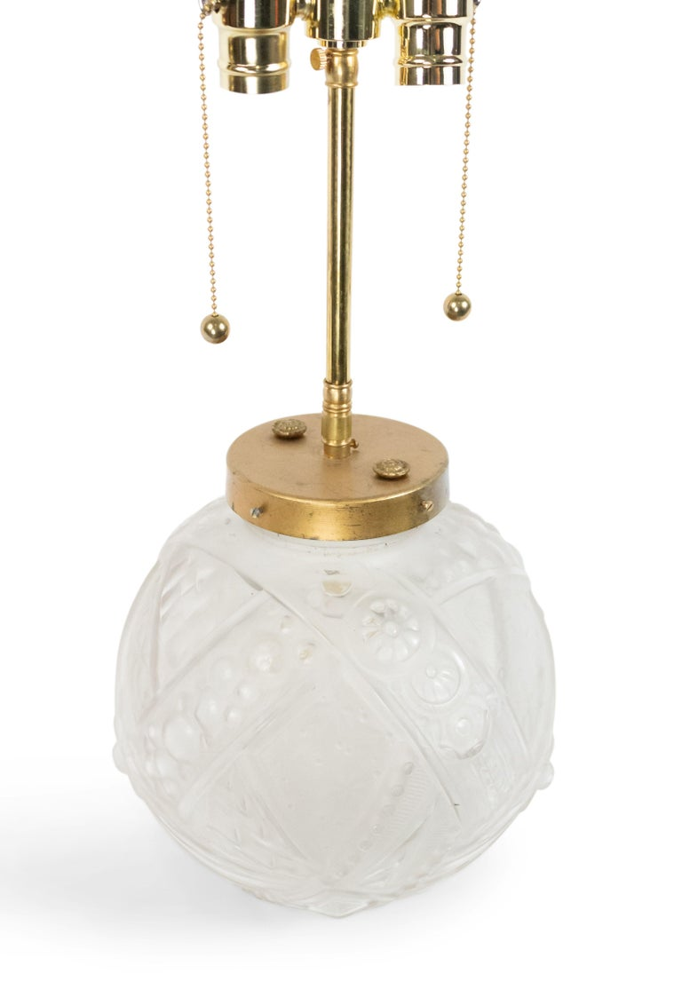 French Art Deco Lamp In Good Condition For Sale In New York, NY