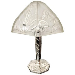 French Art Deco Lamp Signed by Sabino