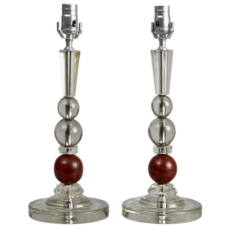 French Art Deco Lamps, a Pair, circa 1920s For Sale