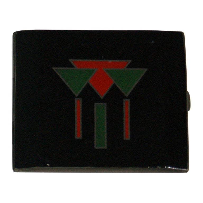 French lacquered-silver cigarette case, ca. 1930, offered by Ardeco