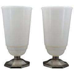 French Art Deco Large Pair of Table Lamps, circa 1925