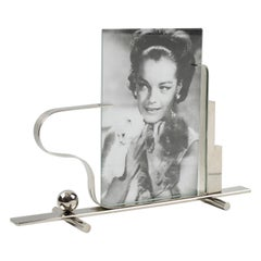 French Art Deco Large Skyscraper Chrome Picture Frame