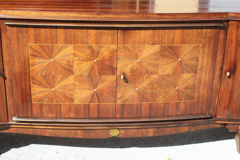 French, Art Deco Leleu Style Palisander/ M-O-P Sideboard or Buffet, circa 1940 For Sale 15