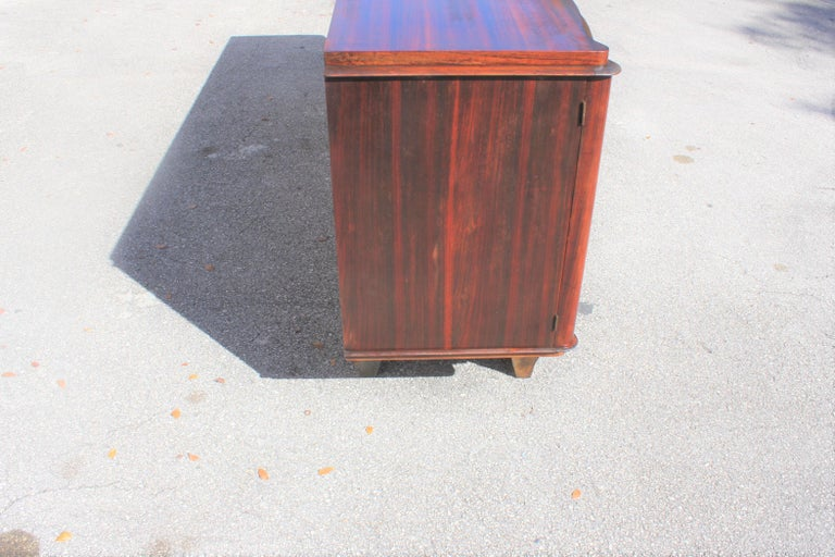 French, Art Deco Leleu Style Palisander/ M-O-P Sideboard or Buffet, circa 1940 For Sale 1
