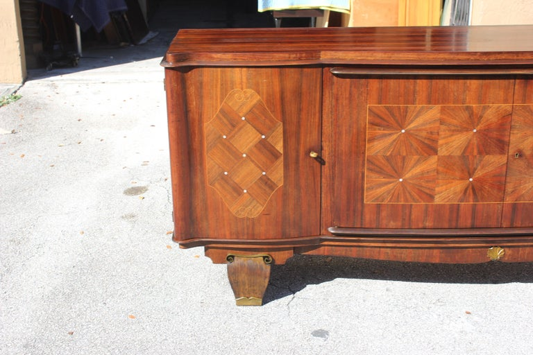 French, Art Deco Leleu Style Palisander/ M-O-P Sideboard or Buffet, circa 1940 For Sale 2