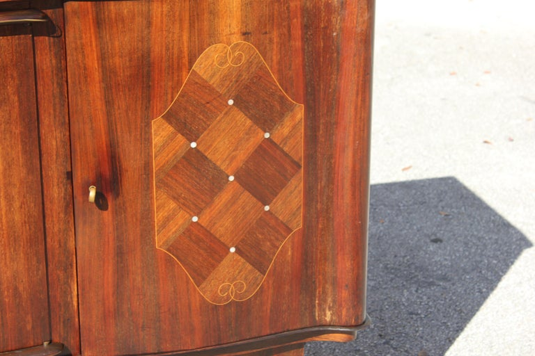 French, Art Deco Leleu Style Palisander/ M-O-P Sideboard or Buffet, circa 1940 For Sale 4