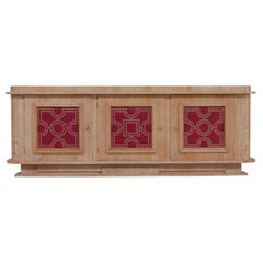 French Art Deco Limed Oak Sideboard Attributed to André Arbus