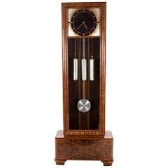French Art Deco Long Case Clock, circa 1925