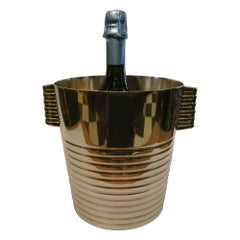 French Art Deco Luc Lanel for Christofle, Champagne Bucket / Wine Cooler