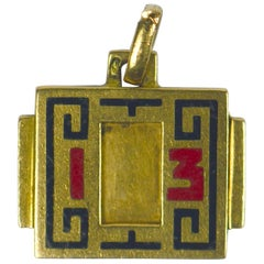 French Art Deco Lucky 13 Charm