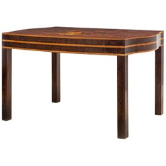 French Art Deco Macassar and Marqueterie Coffee or Sofa Table