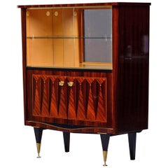 French Art Deco Macassar Bar Cabinet or Vitrine