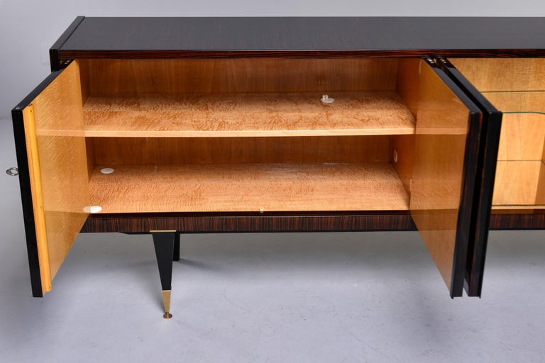 French Art Deco Macassar Buffet or Sideboard In Good Condition For Sale In Troy, MI
