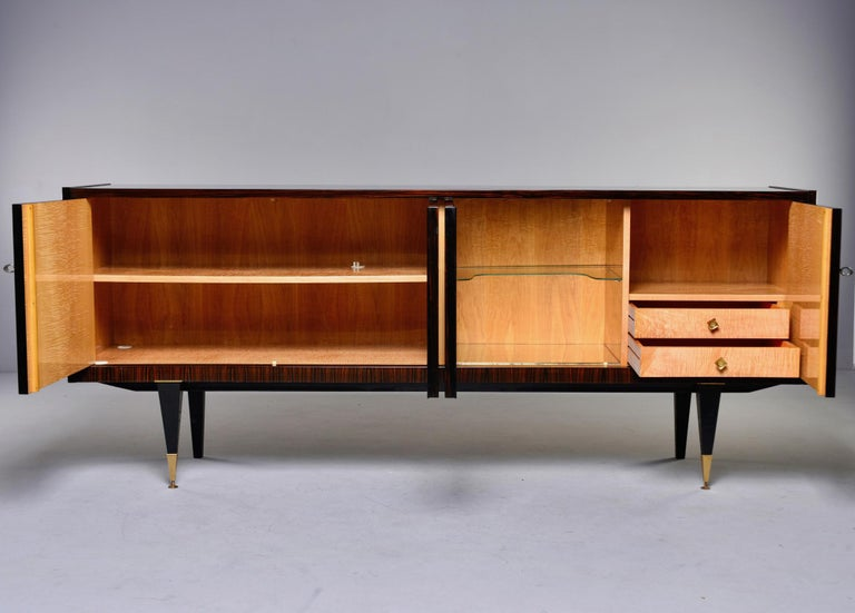 20th Century French Art Deco Macassar Buffet or Sideboard For Sale