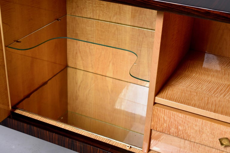 French Art Deco Macassar Buffet or Sideboard For Sale 2