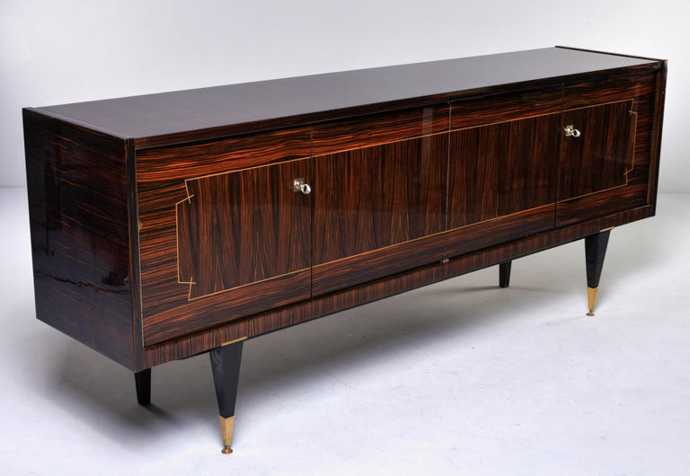 French Art Deco Macassar Buffet or Sideboard For Sale 4