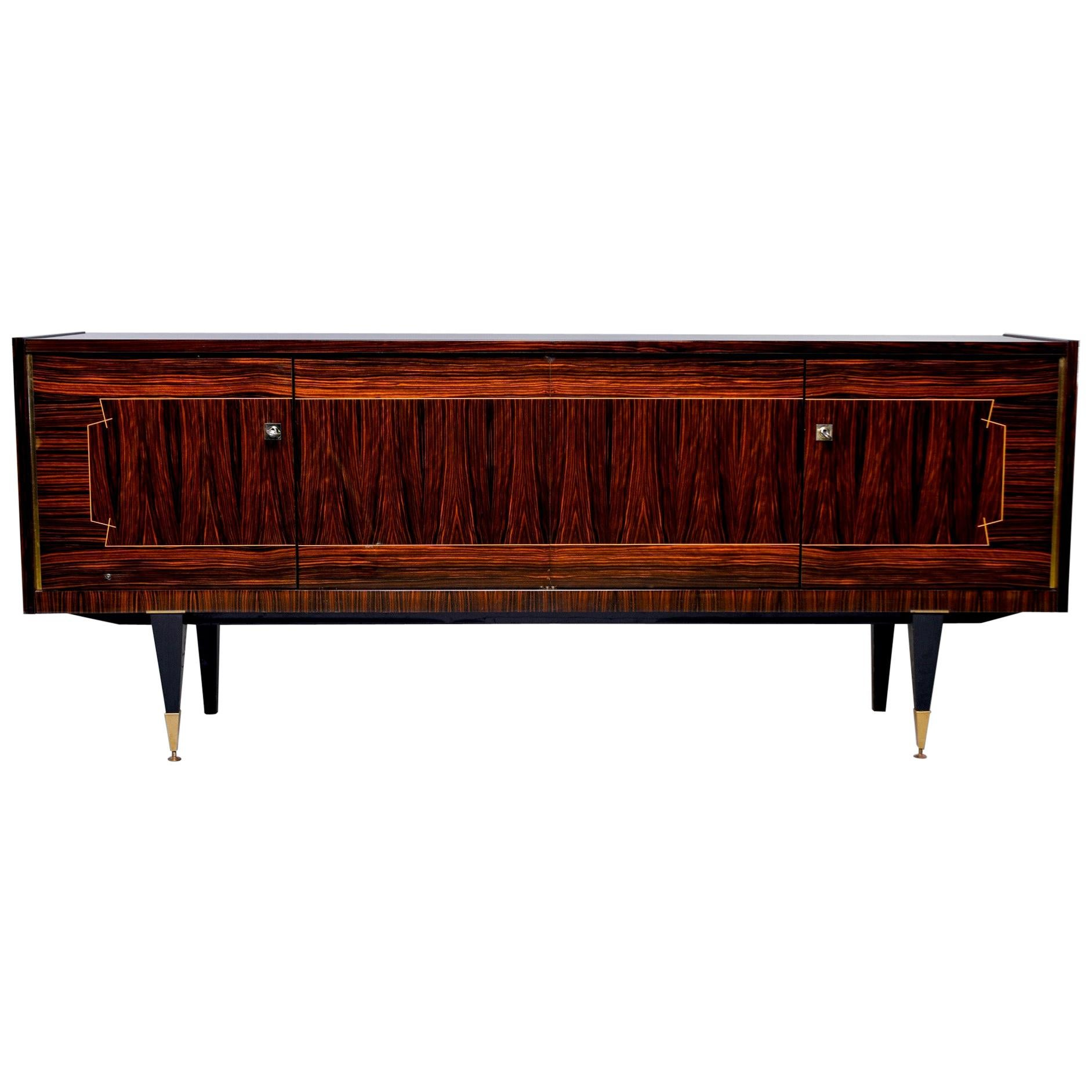 French Art Deco Macassar Buffet or Sideboard